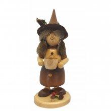 Smoker Gnome woman with saucepan, natural