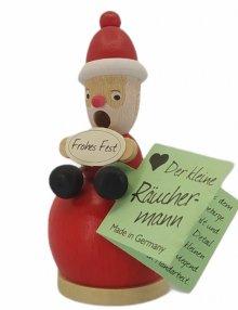 Mini smoker Santa Claus, red