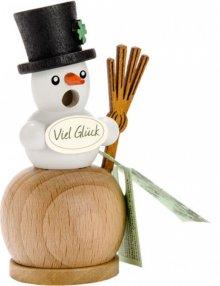 Mini smoker snowman, natural