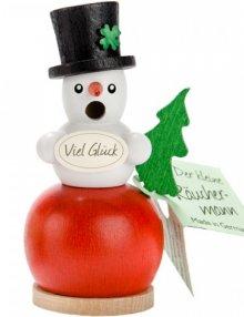 Mini smoker snowman, red