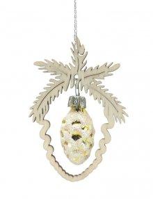 Tree decoration Mini glass pails, gold/silver