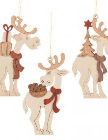 tree ornament Moose, 6 pieces