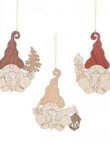tree hangings dwarfs, 6 pieces