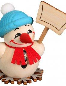 Ball smoking figure Cool-Man with snow shovel