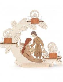 Tealight wreath Christmas crib, Christ's birth