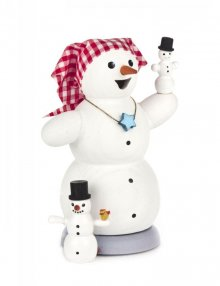 smoker snowwoman with 2 children