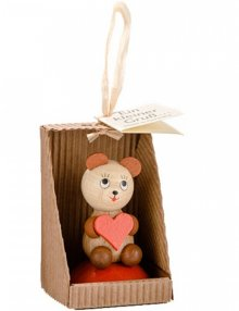 Small greetings, bear with a heart