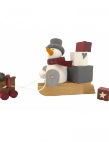 Figure with a heart, Otto with a sleigh for presents