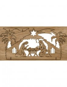 puzzle card Nativity Stable